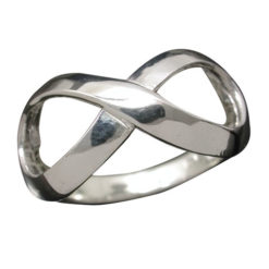 Sterling Silver 9mm Infinity Ring