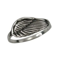Sterling Silver 7mm Angel Wing Ring