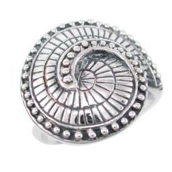 Sterling Silver 20mm Spiral Pattern Ring