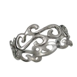 Sterling Silver 9mm Fine Scroll Ring