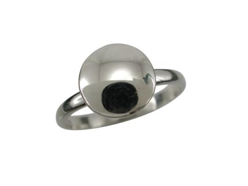 Sterling Silver 8.5mm Domed Disc Ring