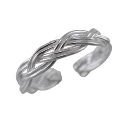 Sterling Silver 3.5mm Plaited Toe Ring