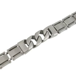 Stainless Steel 16mm Matt Link Bracelet 21cm