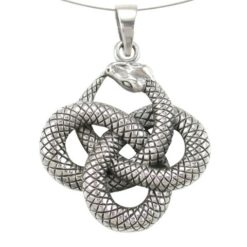 Sterling Silver 29mm Entwined Snakes Pendant