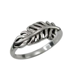 Sterling Silver 7mm Fern Leaf Ring