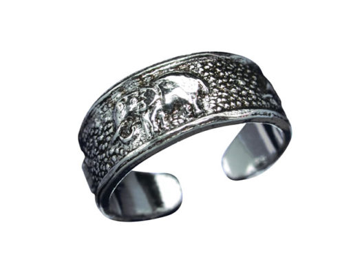 Sterling Silver 5.5mm Elephant Toe Ring