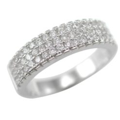 Sterling Silver 5mm White Cubic Zirconia Ring