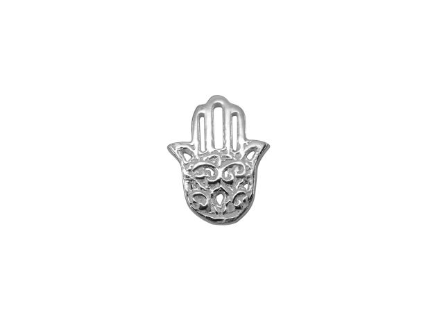 Sterling Silver Hamsa Hand Butterfly Memories Charm