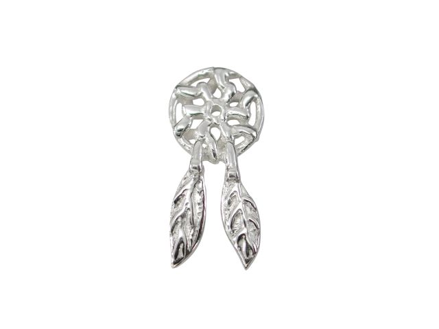 Sterling Silver Dream Catcher Butterfly Memories Charm
