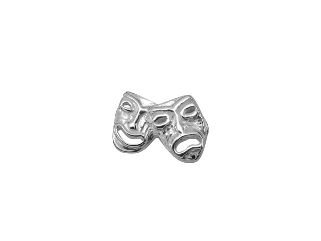 Sterling Silver Theatre Drama Masks Butterfly Memories Charm
