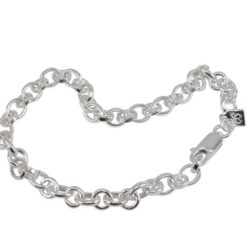 Sterling Silver 5mm Hollow Link Bracelet 19cm