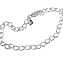 Sterling Silver Twisted Curb Link Bracelet (ideal For Charms)