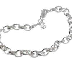 Sterling Silver 5mm Solid Oval Link Bracelet (ideal For Charms)