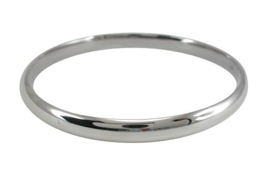 Sterling Silver 7mm Half Round Hollow Comfort Fit Golf Bangle 65mm