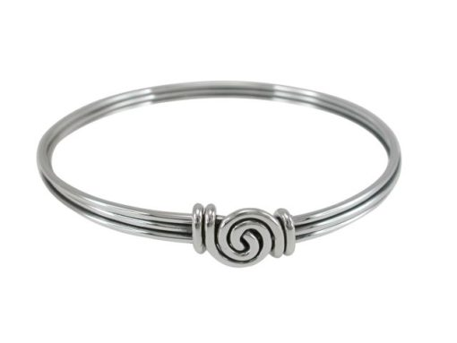 Sterling Silver 8mm Twisted Wire Gypsy Golf Bangle 65mm