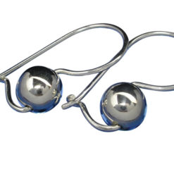 Sterling Silver 6mm Euroball Earrings