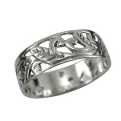 Sterling Silver 6mm Floral Design Ring
