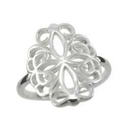Sterling Silver 16mm Filigree Ring
