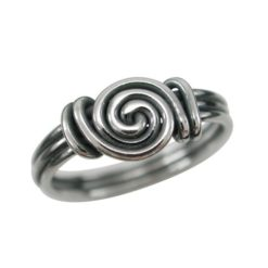 Sterling Silver 7mm Twisted Wire Gypsy Style Ring