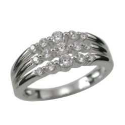 Sterling Silver 7mm White Cubic Zirconia Ring