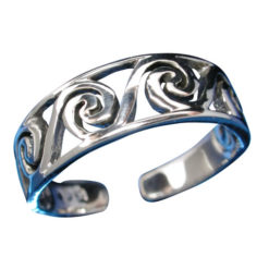 Sterling Silver 5mm Swirl Toe Ring