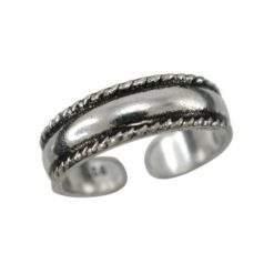 Sterling Silver 4.5mm Rope Edged Toe Ring