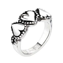 Stainless Steel 8mm Hearts Ring