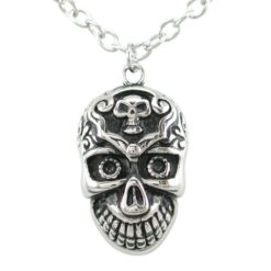 Stainless Steel 38x25mm Skull Necklet 60cm