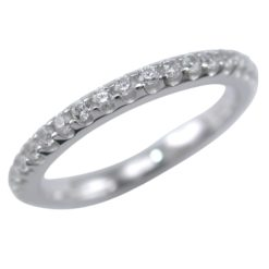 Sterling Silver 2mm White Cubic Zirconia All Around Ring