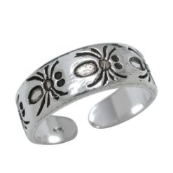 Sterling Silver 5.5mm Spiders Toe Ring