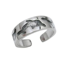 Sterling Silver 5mm Dolphin Toe Ring