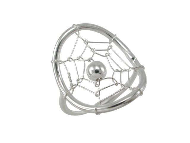 Sterling Silver 18mm Dream Catcher Ring