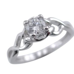 Sterling Silver 5.5mm White Cubic Zirconia Ring