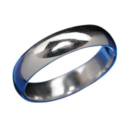 Sterling Silver 4mm Half Round Wedder Band Ring