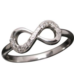 Sterling Silver 6mm White Cubic Zirconia Infinity Ring