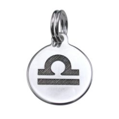Sterling Silver 12mm Libra Zodiac Charm With Split Ring