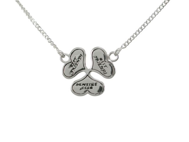 Sterling Silver 16mm Best Friends Heart Necklet 40-45cm