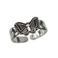 Sterling Silver 7mm Butterfly Toe Ring