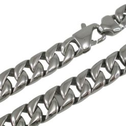 Stainless Steel 12mm Rounded Curb Link Chain