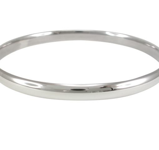 Sterling Silver 6mm Half Round Hollow Comfort Fit Golf Bangle 70mm