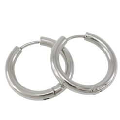 Stainless Steel 22x3mm Hoop Earrings