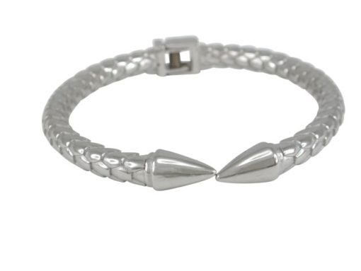 Stainless Steel 6mm Spring Close Bangle