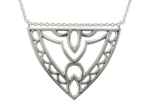 Sterling Silver 39x30mm Bohemian Style Necklet 45-50cm