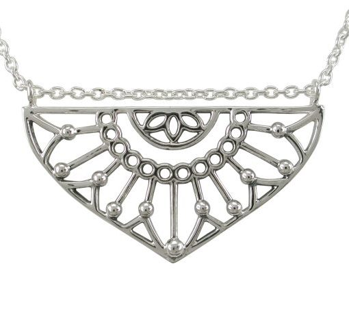 Sterling Silver 35x19mm Bohemian Style Necklet 45-50cm