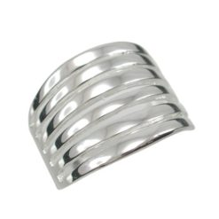 Sterling Silver 18mm Tapered Multi Strand Ring