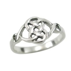 Sterling Silver 9mm Celtic Knot Ring