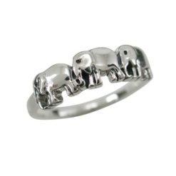 Sterling Silver 5mm Elephant Ring