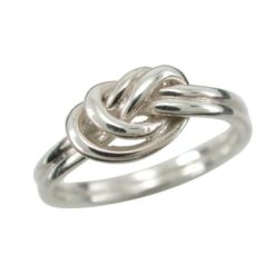 Sterling Silver 6mm Double Love Knot Ring