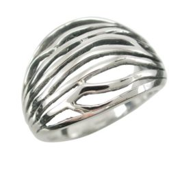 Sterling Silver 16mm Nature Style Ring