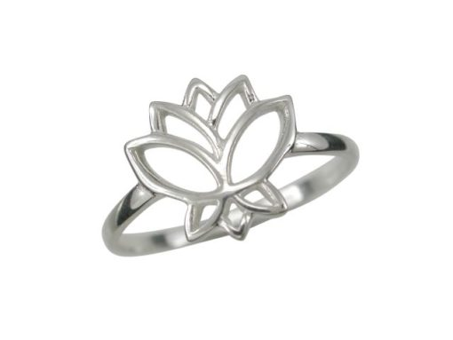 Sterling Silver 12mm Lotus Flower Ring